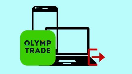 Comment se déconnecter du compte Olymp Trade?