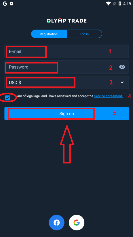 How to Open Account and Deposit Money at Olymp Trade